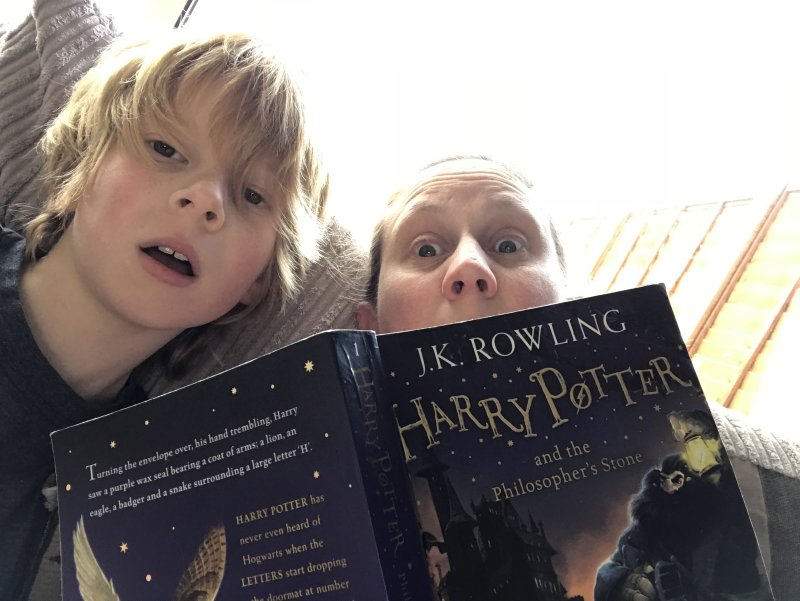 reading harry potter as part of home education
